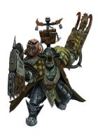 Ork Freebooter.. by paranoimiac