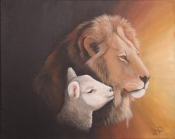 Lion and the Lamb by Rhed-Dawg