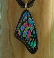 TyeDye Fused Glass Wing by FusedElegance