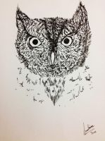 Whiskered Screech Owl by maddy39