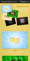 Typographic Backgrounds Set by Rafael-Olivra