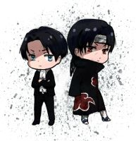 Rivaille and Itachi by Lama1Sara