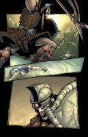 David y Goliath page 11 Color by Sandoval-Art