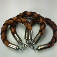 More Bullet-tipped Braided Leather Bracelets by passbyguy