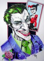 Joker playing with cards by PM-Graphix