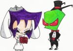 A Zim+Gaz Wedding Fanart by nintendomaximus