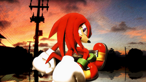 Knuckles the Eckidna[17] by Light-Rock