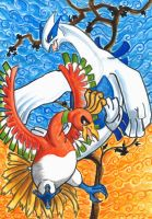 Pokemon Lugia and Ho-Oh by Magizoom