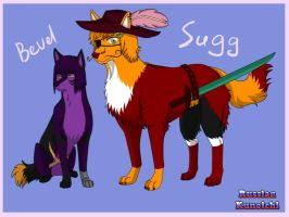 Sugg and Bevel - wolves by RussianKunoichi