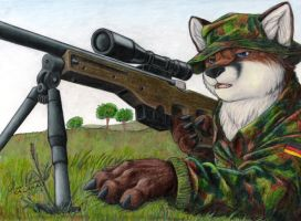 Sniper in Kosovo by KalahariFox