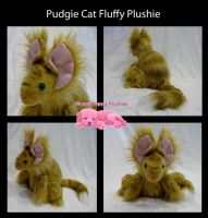 Striped Pudgie Cat Commission by SPPlushies