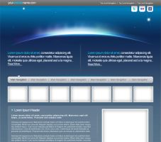 Space Web Template PSD by freshemedia