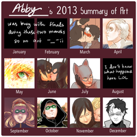 2013 Summary of Art by Colours07