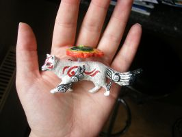 --SOLD--- Customized Okami Amaterasu Figure by stephanie1600