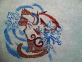 fire and ice kitty by mistresscarrie