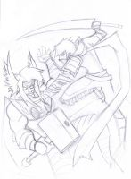 Mailus vs Thor wip by Mailus