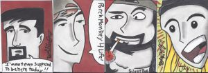 Clerks Sketch Cards by LarsonJamesART