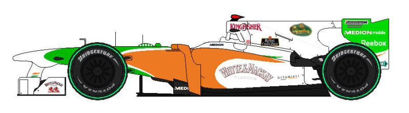 Force india-VJM03 by lupin3ITA