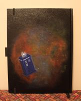 TARDIS sketchbook back by FangsAndNeedles