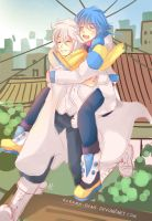 -- DMMD: Piggyback ride -- by Kurama-chan