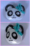 Cute Bamboo Hairpin Panda Head Polymer Clay Magnet by NitaXX