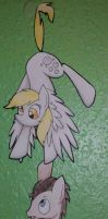 Derpy Hooves and Doctor Whooves by Winter-Hooves