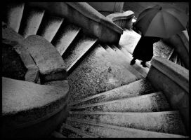 The umbrella on the stairs by Atilla1000