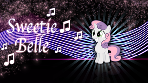 Happy Sweetie Belle wallpaper by rhubarb-leaf