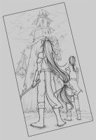 HW - 3pt perspective lineart by Akiahara