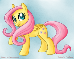 Collab: Fluttershy by pyro-arts