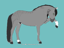 Andalusian- dapple grey for adopt 4 points by whenwolveshowl