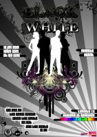 Black White Vector Poster by hotinferno