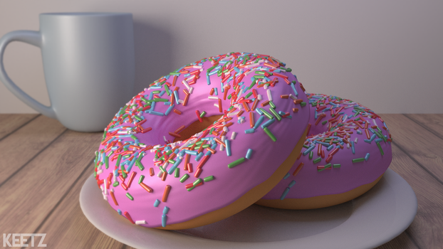 Donuts made in Blender by MrTengoku