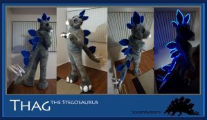 Thag the Stegosaurus by ScardyKat