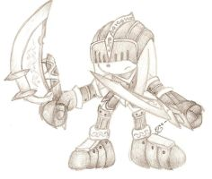 SATBK - Sir Gawain - Knuckles by Mew-Mew-Rocky