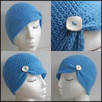 Modern Twist Flapper Blue by tallis-designs
