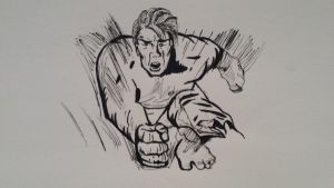 The Incredible Hulk - Speed Drawing Video by rawrdoodles