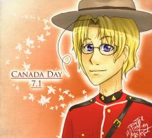 APH: Canada Day Mountie by ThePuddingMonster