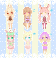 Bunny adoptables 4$|400points [CLOSED] by Kawaiiipoop