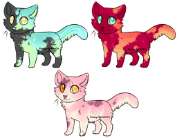 Feline Batch: Colorful Patches (closed!) by potato-adopts