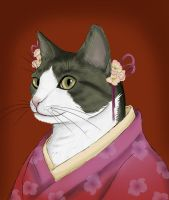 Portait of a cat by yoco-chan