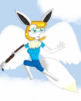 Kendra The Shiny Eevee Angelic Form by KendraTheShinyEevee