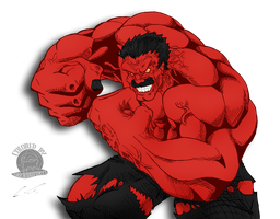 The Red Hulk by blackmoonrose13