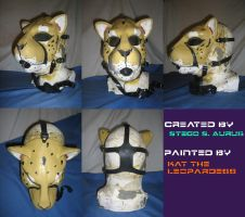 Painted Gas Mask: Cheetah by Catwoman69y2k