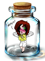 Angel in a Bottle. by Tryxal