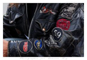 Old style leather and patches - 001 by laurentroy
