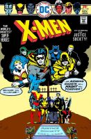 The X-Men meet the Justice Society of America! by Gwhitmore