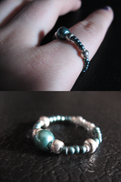 Teal Bead Ring by sampdesigns