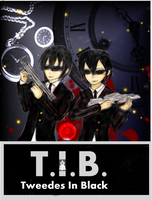 Bloody Twins-Tweedles in Black by BlueNightGiGi
