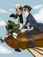 Steampunk!sherlolly by lexieken